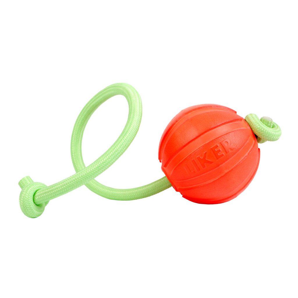 Liker Lumi – мячик для собак, шнур светится в темноте!