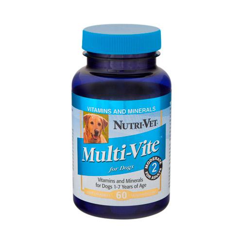 Нутри-Вет «МУЛЬТИ-ВИТ» комплекс витаминов и микроэлементов для собак, жевательные таблетки