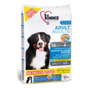 Корм 1st Choice ADULT MEDIUM & LARGE breed – для собак средних и крупных пород