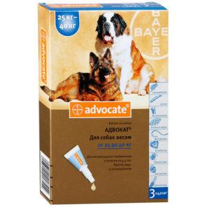 Advocate Bayer (Адвокат) капли в холку для собак