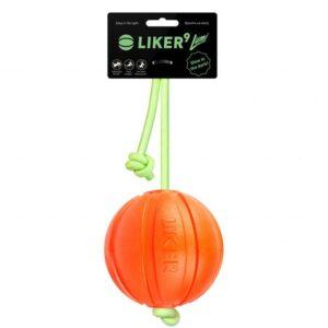 Liker Lumi – мячик для собак, шнур светится в темноте