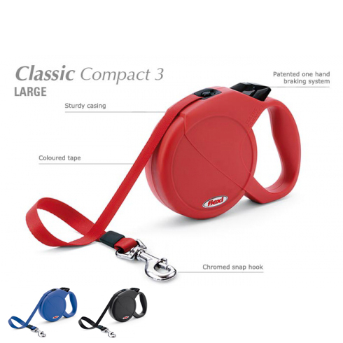 Поводок-рулетка Flexi Classic Compact L 5м 60кг