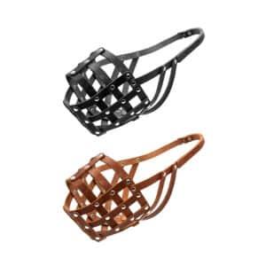 Намордник кожаный мягкий (кавказец, московская сторожевая) Collar