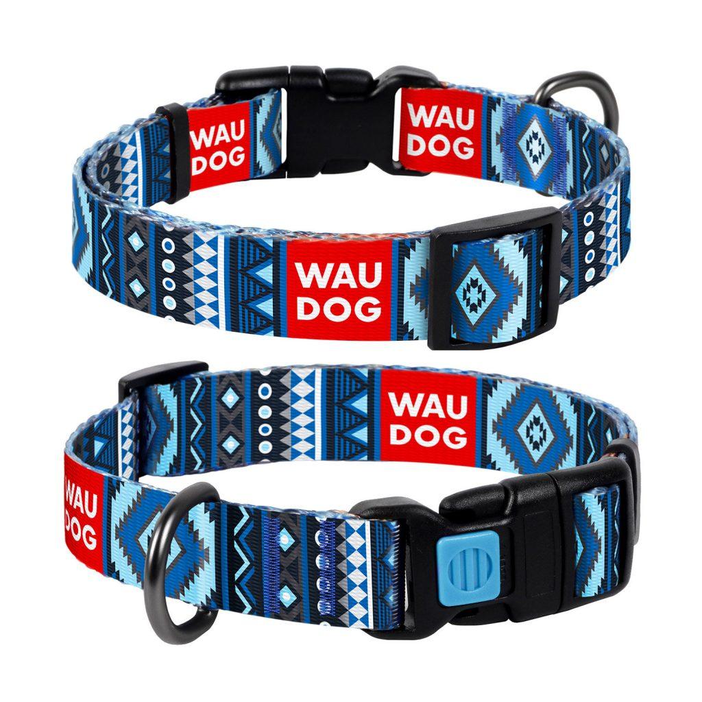 """Ошейник для собак WauDog Nylon (ВАУдог Нейлон) с рисунком """"Этно"""", """"Витраж"""", """"Лето"""""""