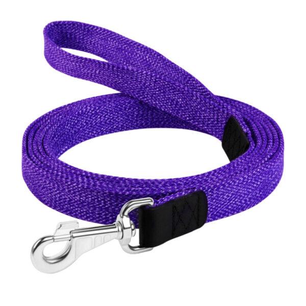 Коллар хб поводок (фиолетовый)