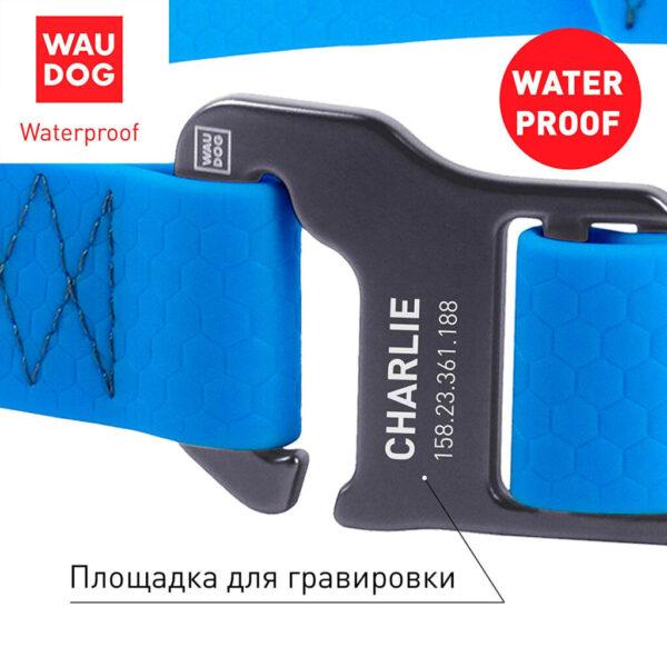 Водоотталкивающие ошейники серии Waudog Waterproof для собак всех пород, с замком-фастексом из алюминиевого сплава, для приключений и активного отдыха с собакой.