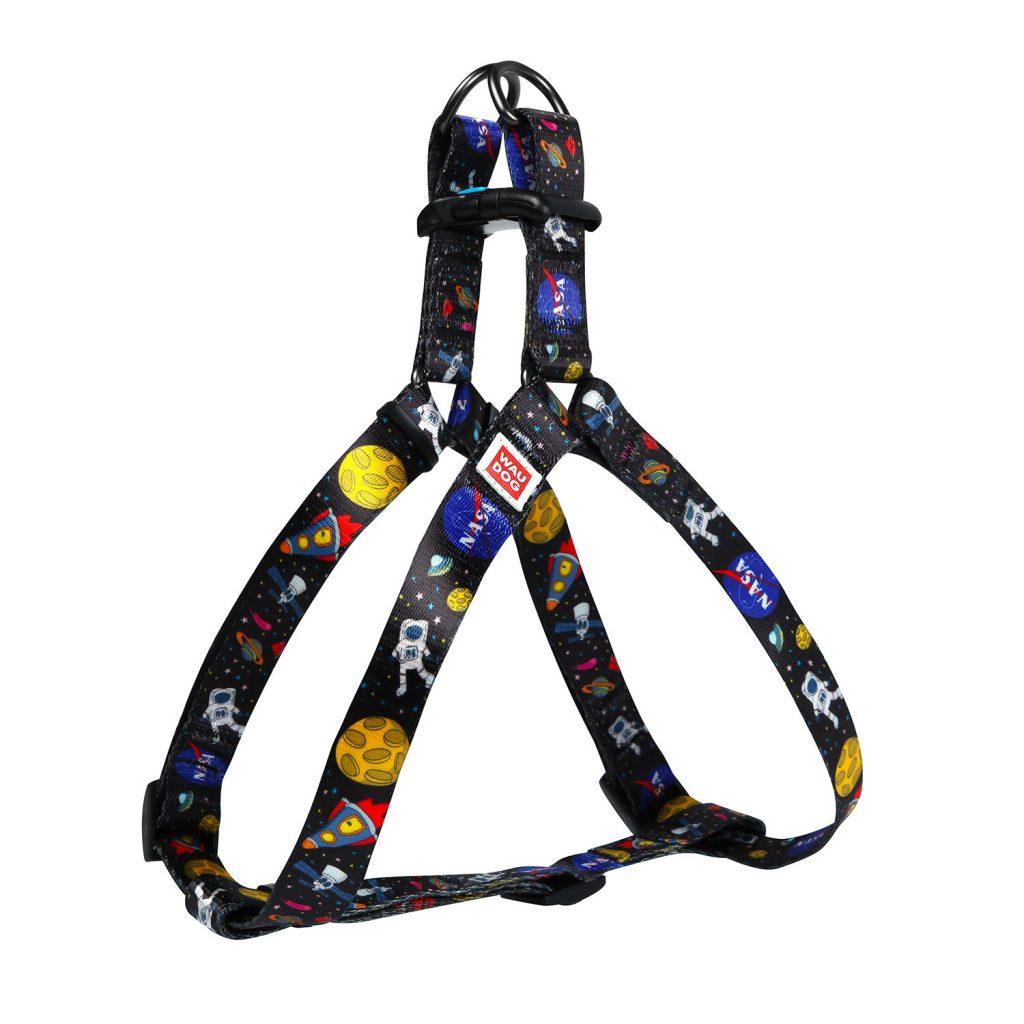 NASA WauDog Nylon Harness (НАСА ВауДог Нейлон), шлея с рисунком НАСА