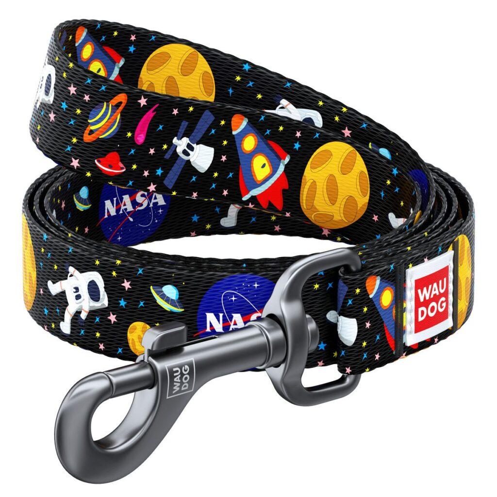 NASA WAUDOG Nylon Leash (НАСА ВАУДОГ) – поводок с рисунком НАСА, нейлон