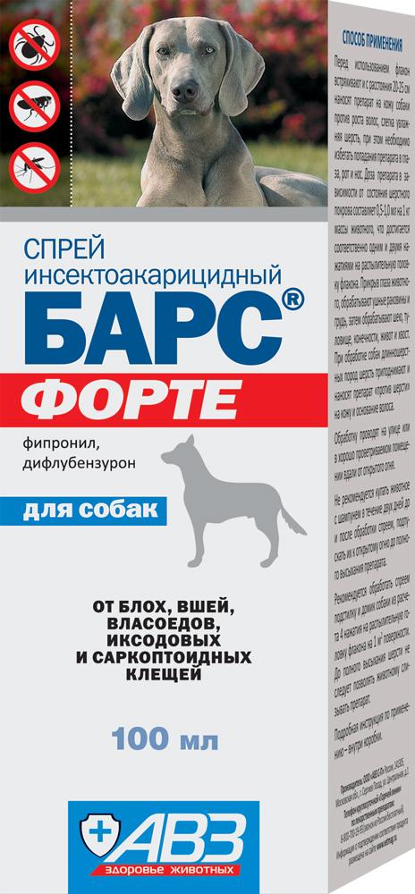 """""""БАРС® ФОРТЕ"""" инсектоакарицидный спрей для собак 100 мл"""