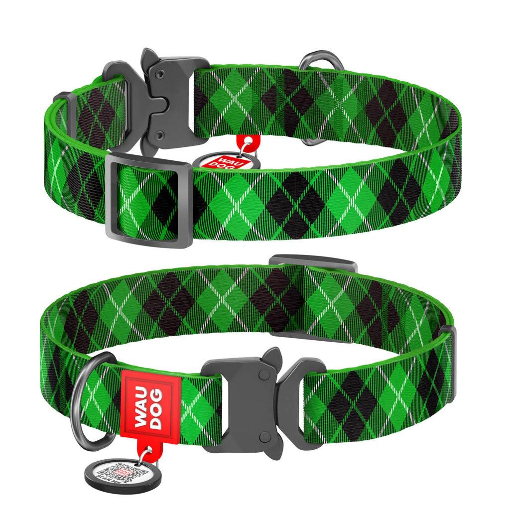 """""""Scotch"""" WauDog Collar Lock"""", """"шотландский"""" ошейник с """"умным"""" адресником и замком"""