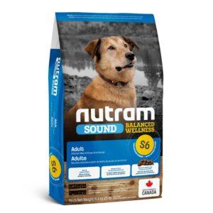 """""""Nutram (Нутрам) S6 Sound Balanced Wellness"""" сухой корм для взрослых собак с курицей и рисом"""